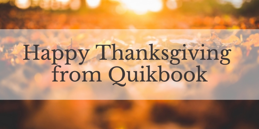 Happy Thanksgiving from Quikbook